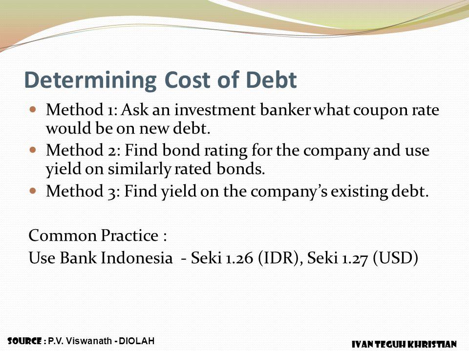 Determining Cost of Debt