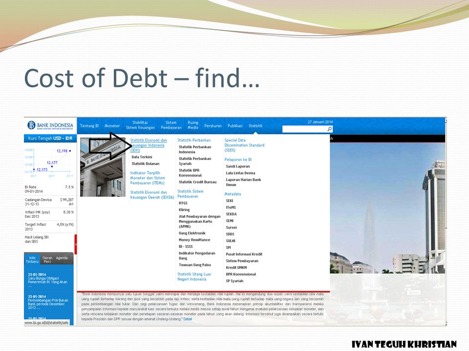 Cost of Debt – find… IVAN TEGUH KHRISTIAN