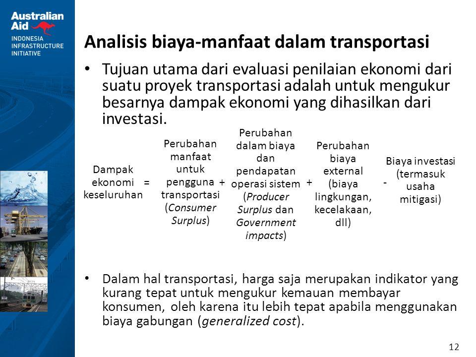Analisis biaya-manfaat dalam transportasi