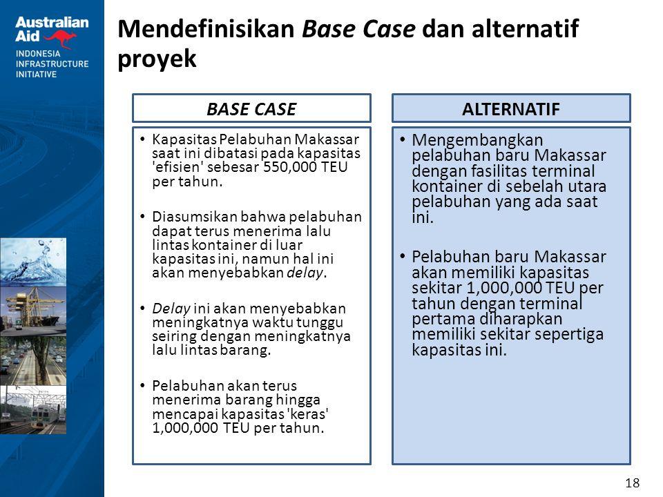 Mendefinisikan Base Case dan alternatif proyek