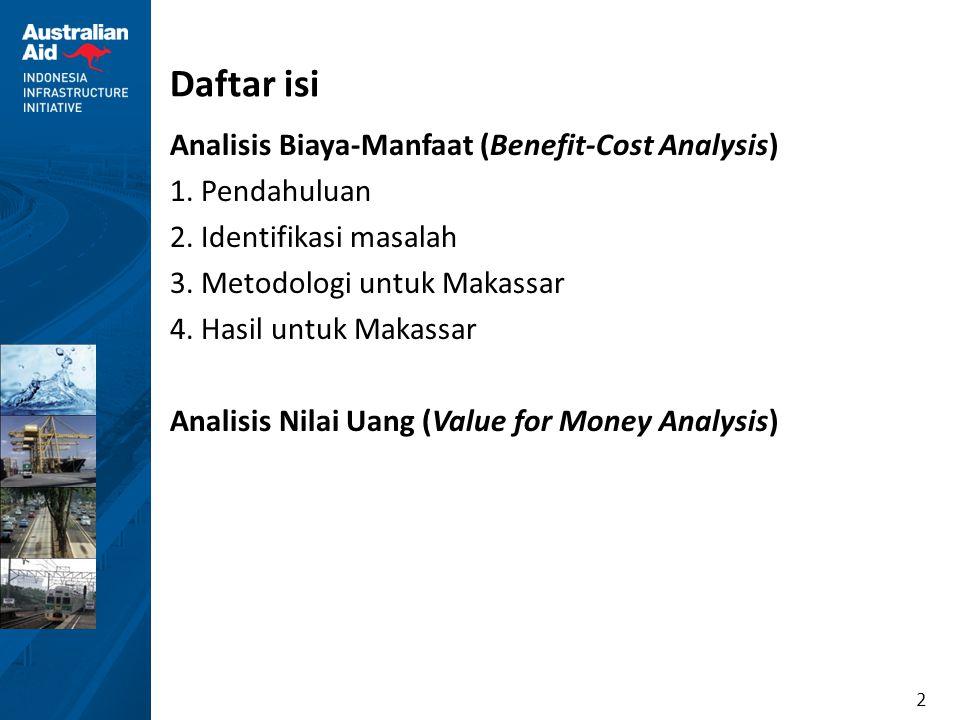 Daftar isi Analisis Biaya-Manfaat (Benefit-Cost Analysis)