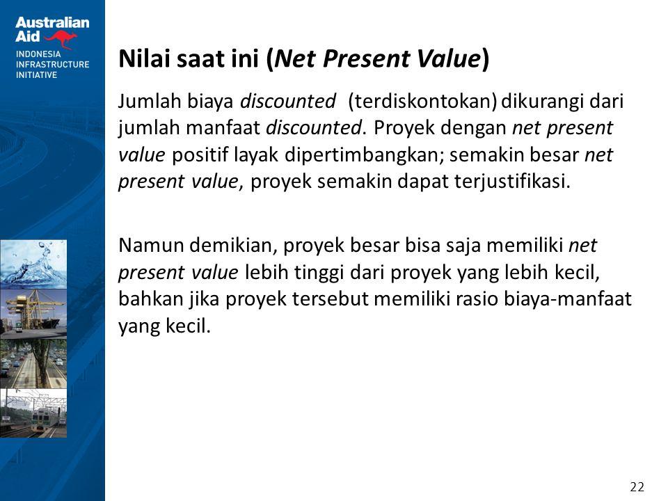 Nilai saat ini (Net Present Value)