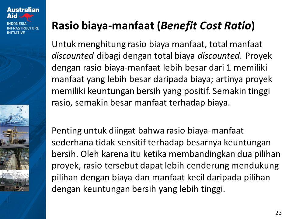 Rasio biaya-manfaat (Benefit Cost Ratio)