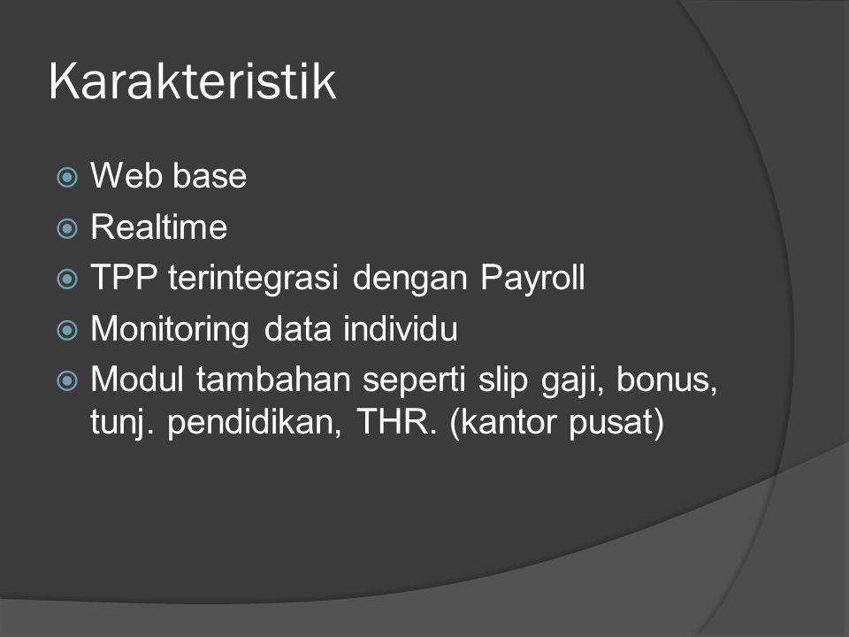 Karakteristik Web base Realtime TPP terintegrasi dengan Payroll