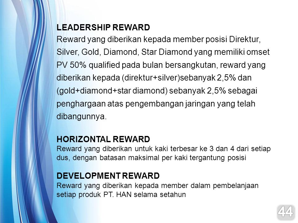 LEADERSHIP REWARD