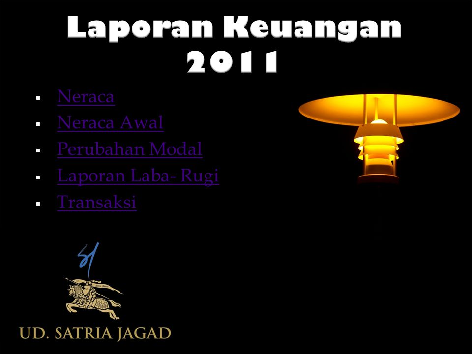 Laporan Keuangan 2011 Neraca Neraca Awal Perubahan Modal