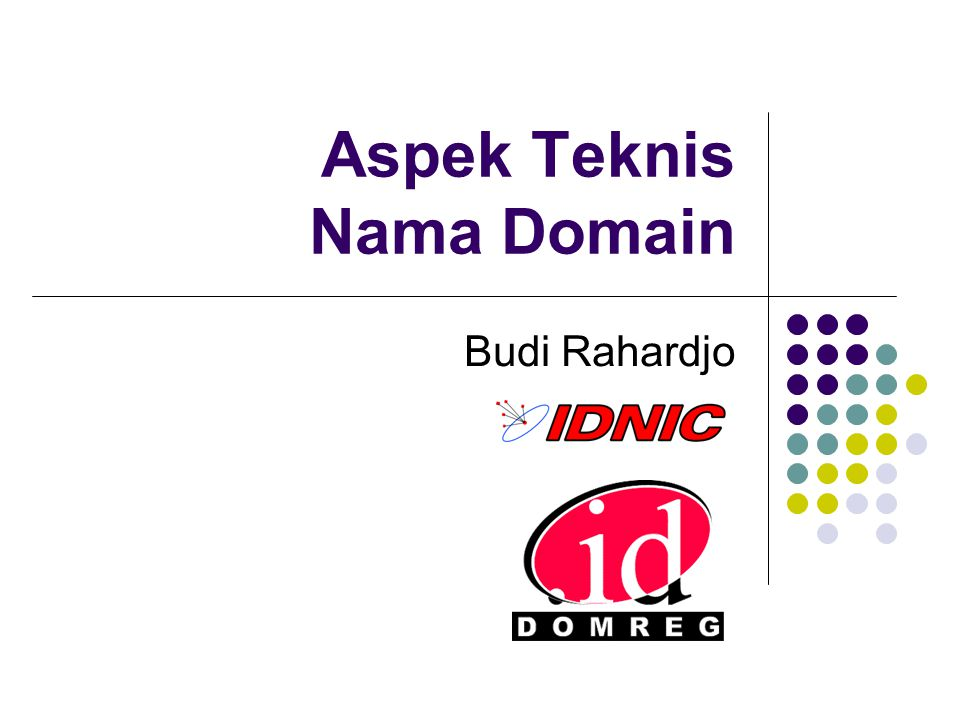 Aspek Teknis Nama Domain