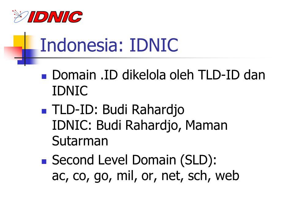 Indonesia: IDNIC Domain .ID dikelola oleh TLD-ID dan IDNIC