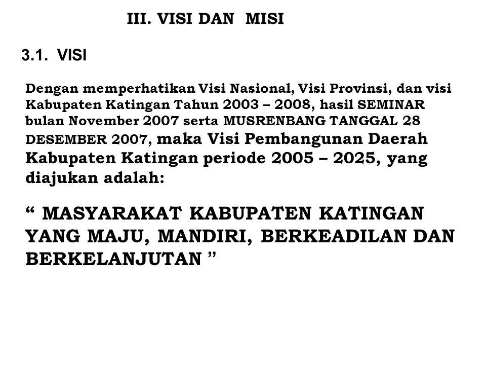 III. VISI DAN MISI 3.1. VISI.