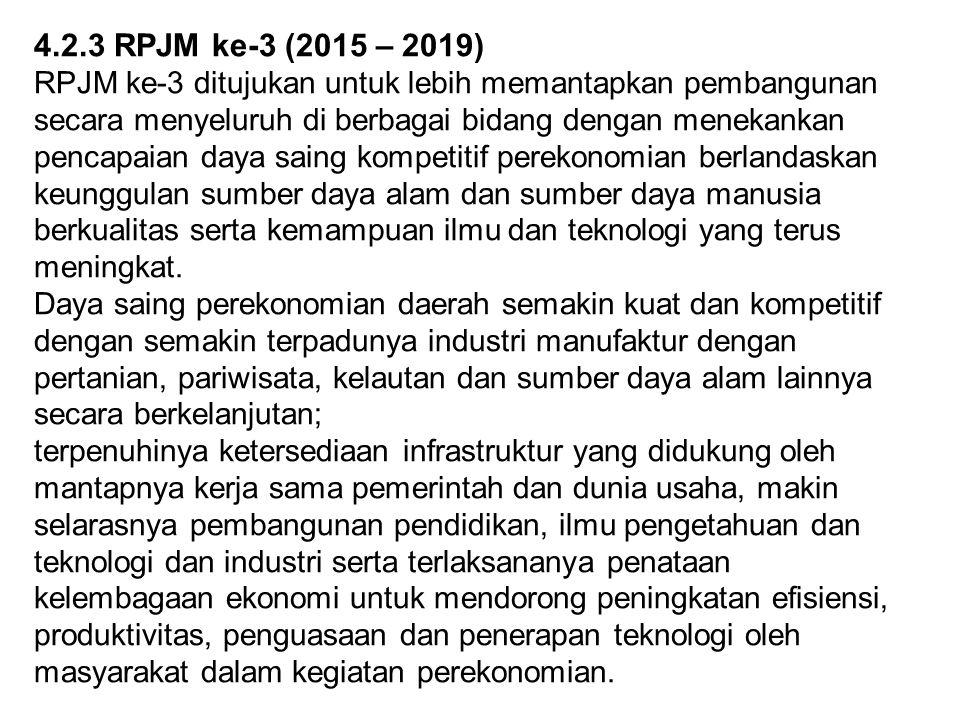 4.2.3 RPJM ke-3 (2015 – 2019)