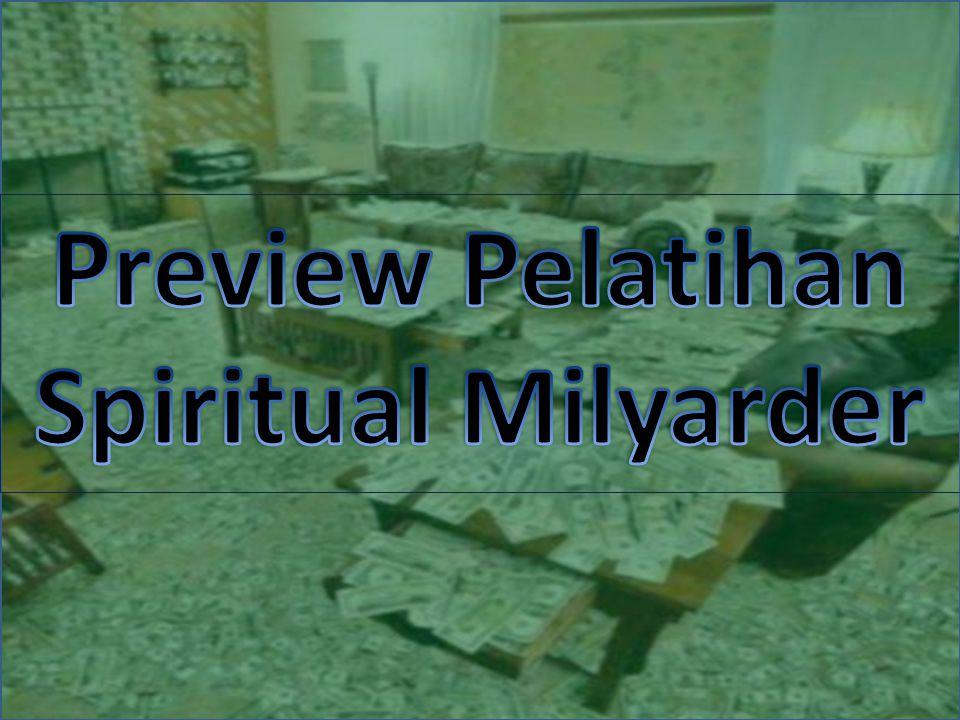 Preview Pelatihan Spiritual Milyarder
