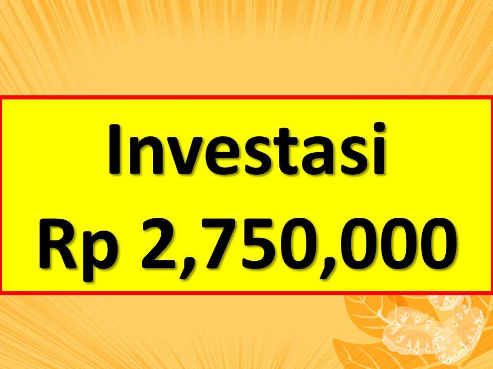 Investasi Rp 2,750,000
