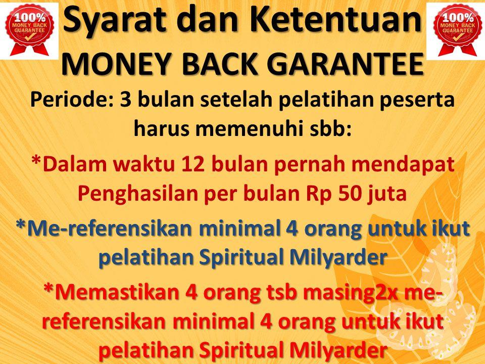 Syarat dan Ketentuan MONEY BACK GARANTEE