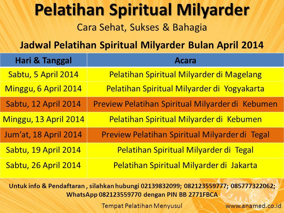 Pelatihan Spiritual Milyarder