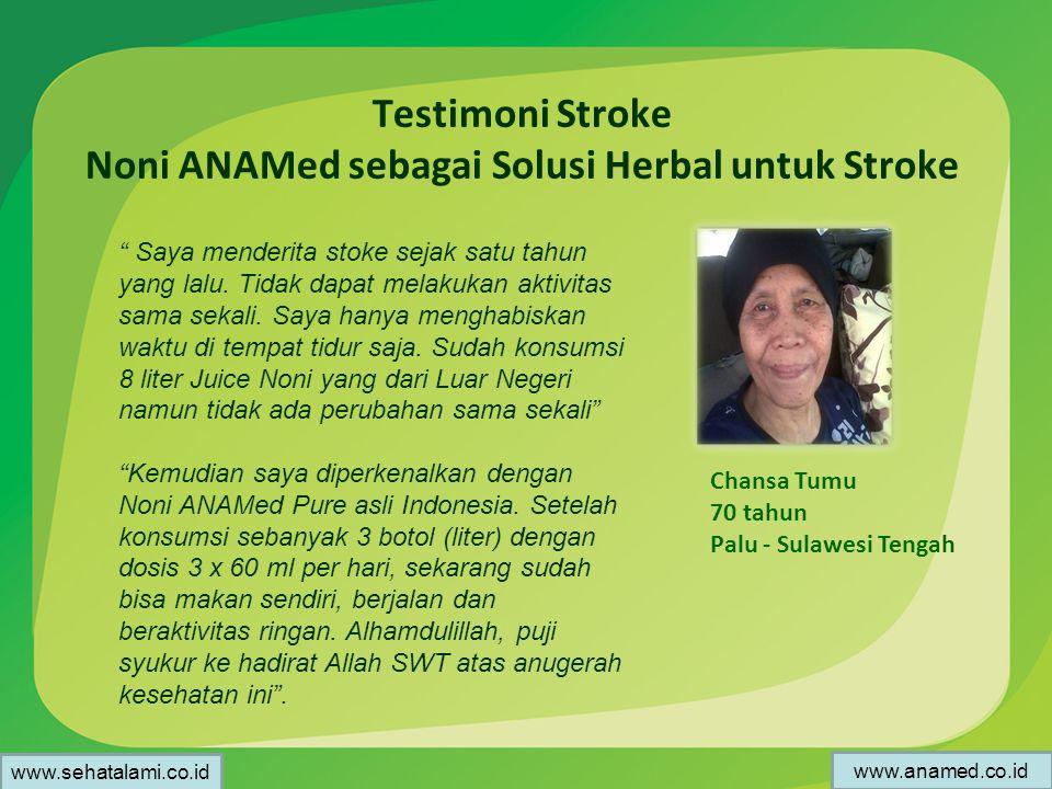 Testimoni Stroke Noni ANAMed sebagai Solusi Herbal untuk Stroke