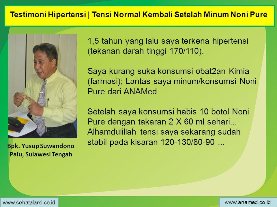 Testimoni Hipertensi | Tensi Normal Kembali Setelah Minum Noni Pure
