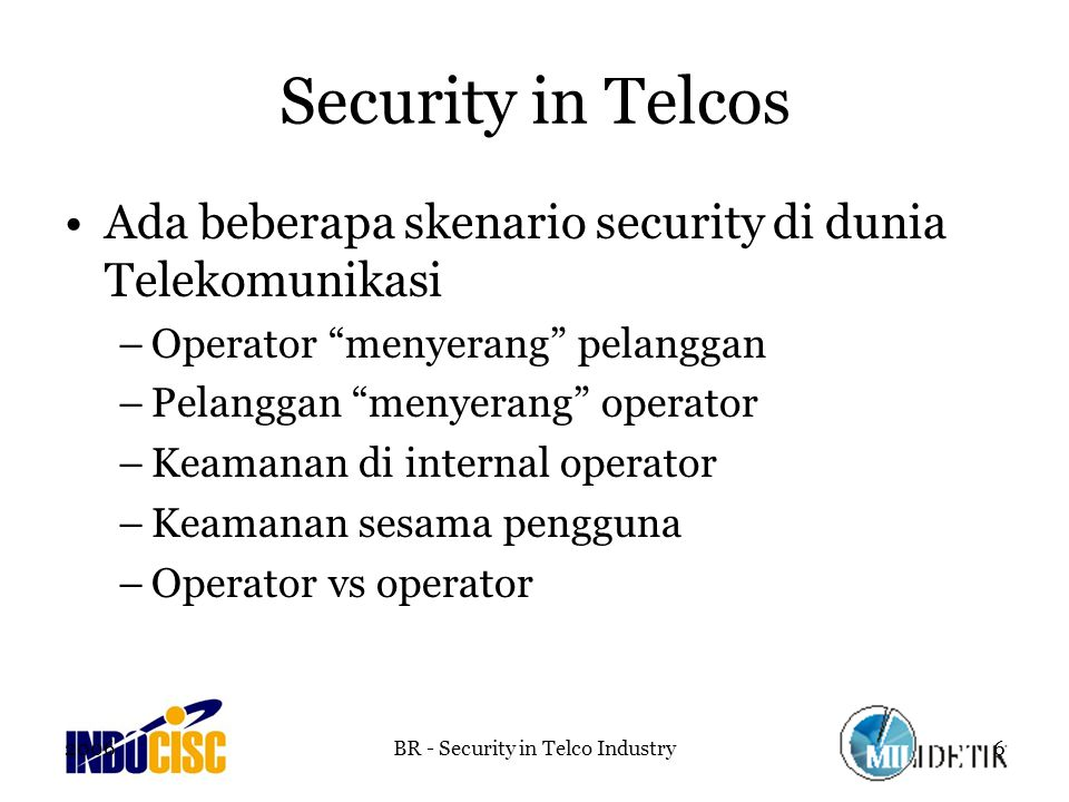 BR - Security in Telco Industry