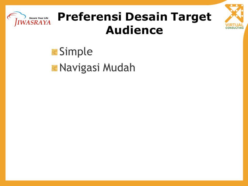 Preferensi Desain Target Audience