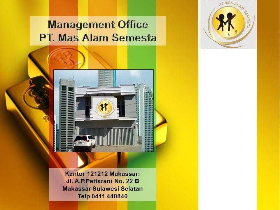 Jl. A.P.Pettarani No. 22 B Makassar Sulawesi Selatan