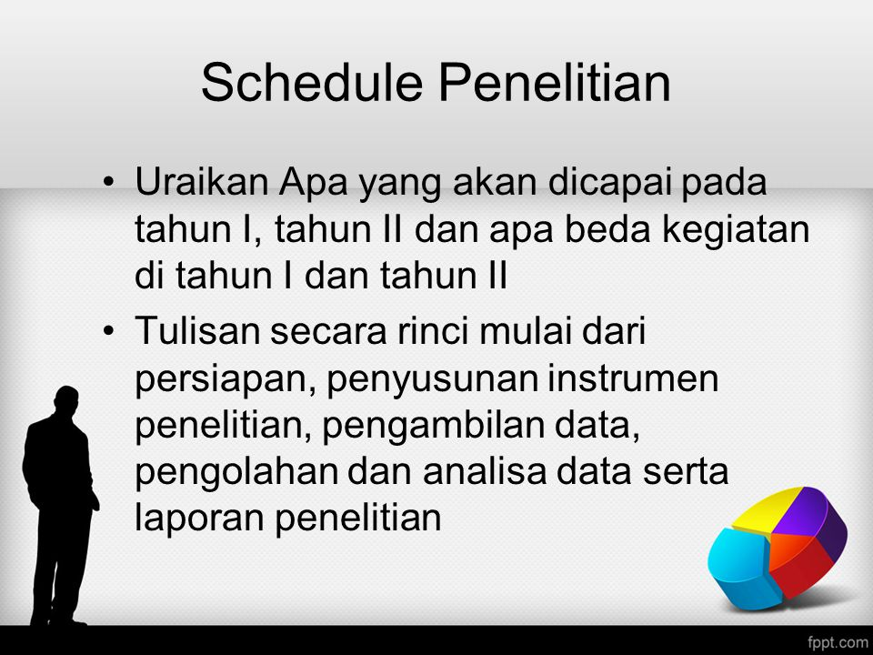 Schedule Penelitian Uraikan Apa yang akan dicapai pada tahun I, tahun II dan apa beda kegiatan di tahun I dan tahun II.