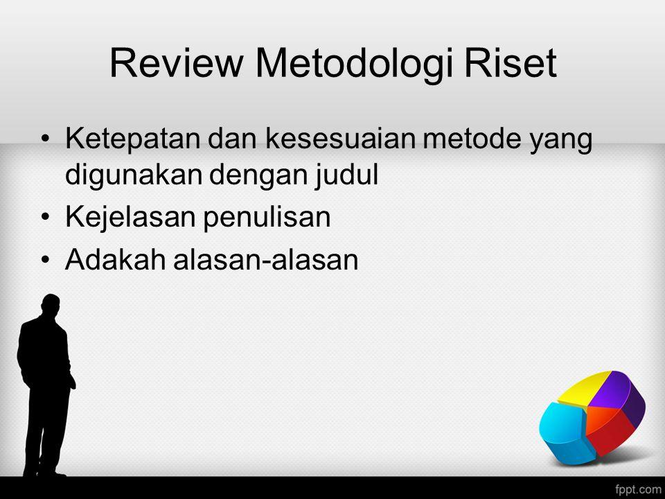 Review Metodologi Riset