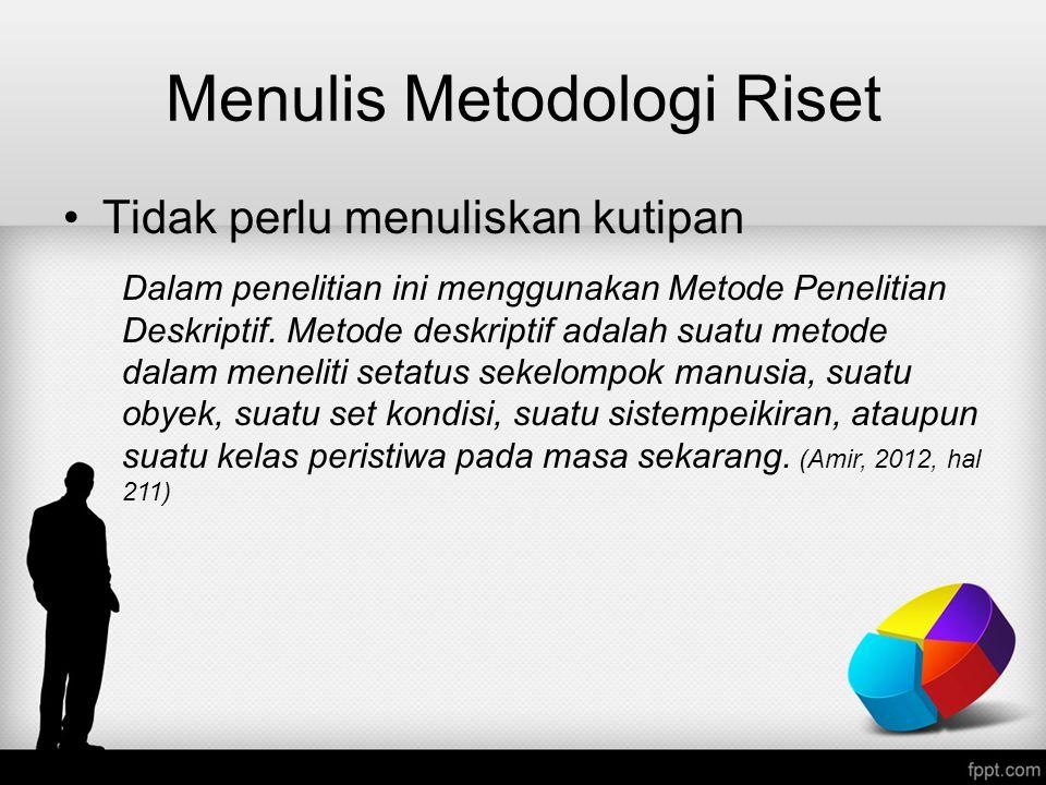 Menulis Metodologi Riset