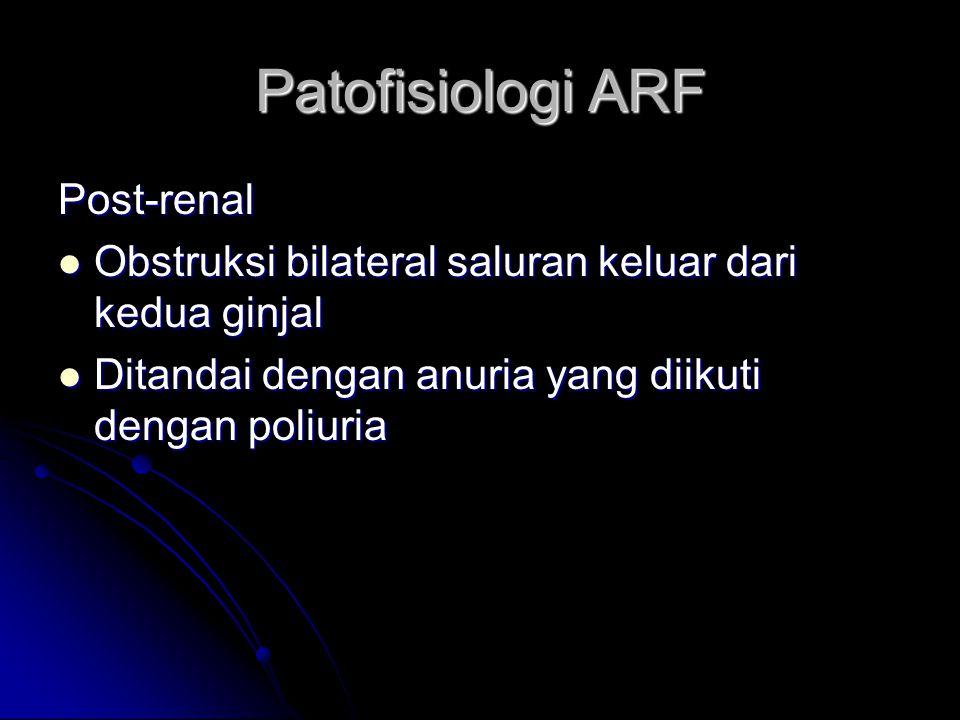 Patofisiologi ARF Post-renal