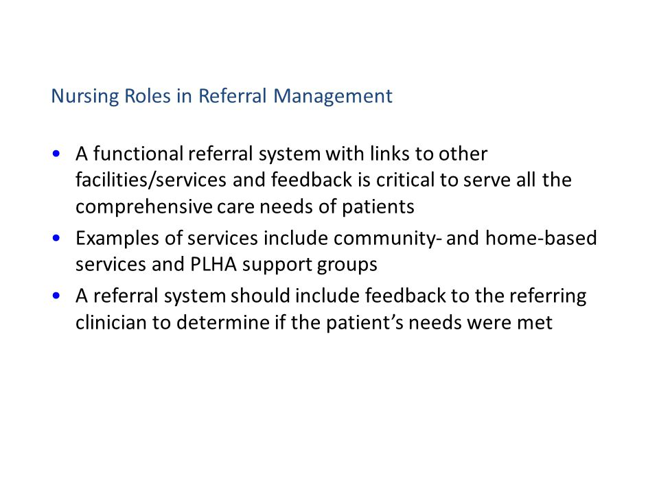 Nursing Roles in Referral Management
