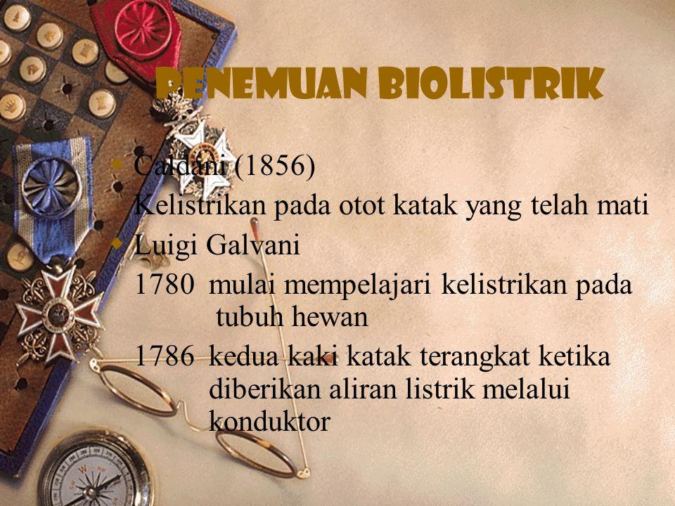 Penemuan biolistrik Caldani (1856)
