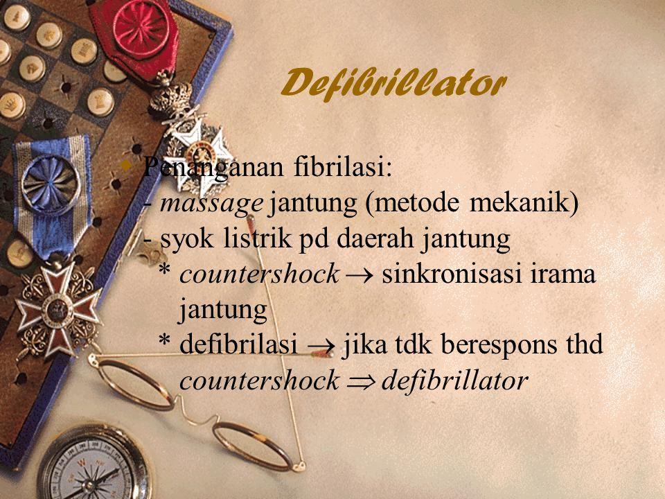 BIOELEKTROMAGNETIK Defibrillator.