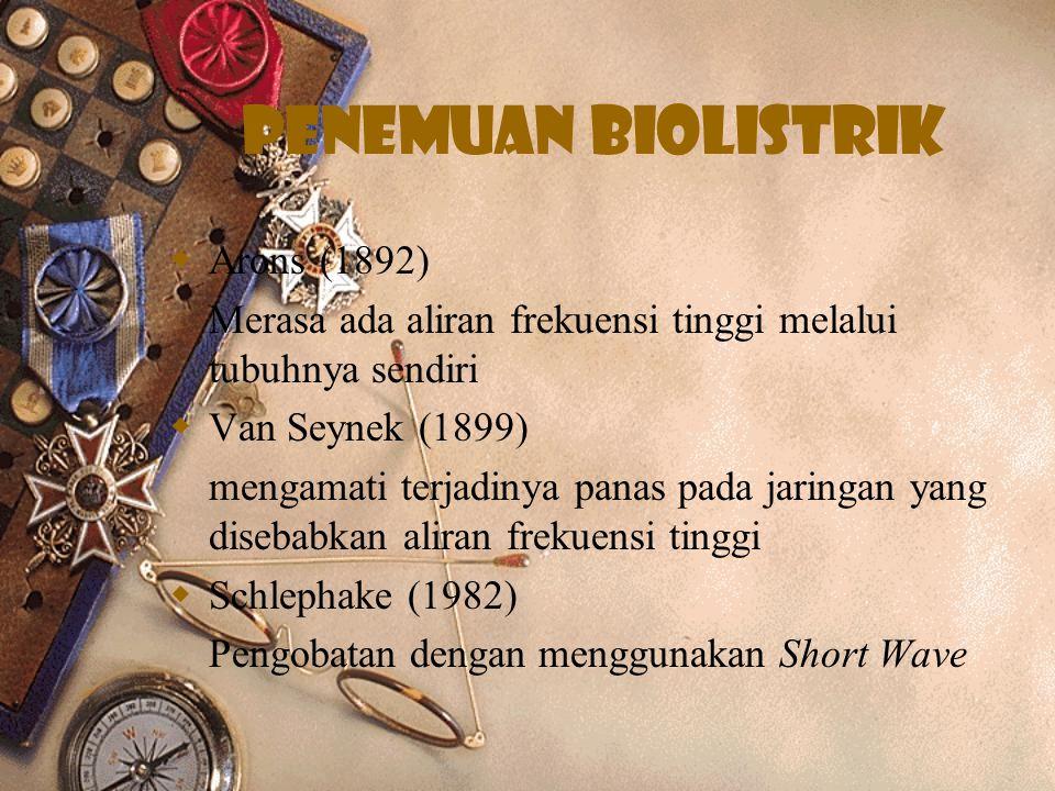 Penemuan biolistrik Arons (1892)
