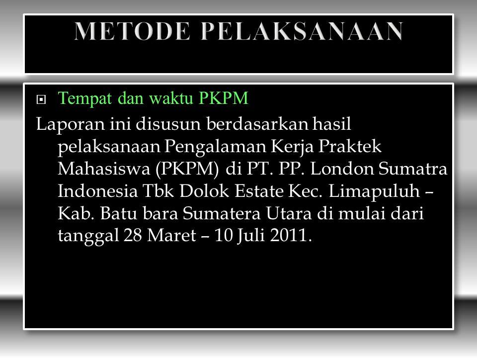 METODE PELAKSANAAN Tempat dan waktu PKPM