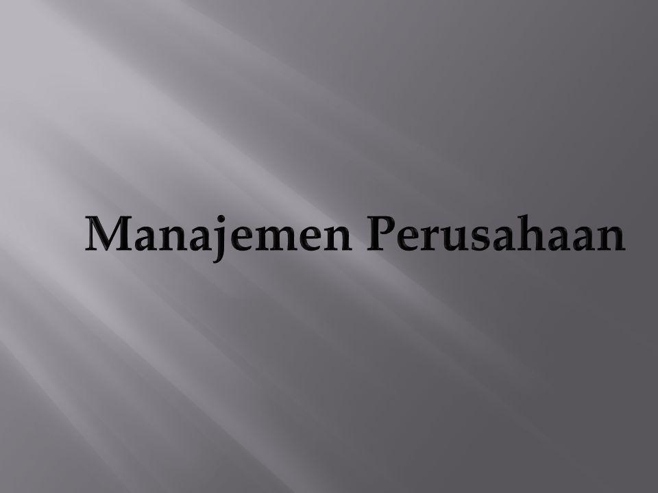 Manajemen Perusahaan