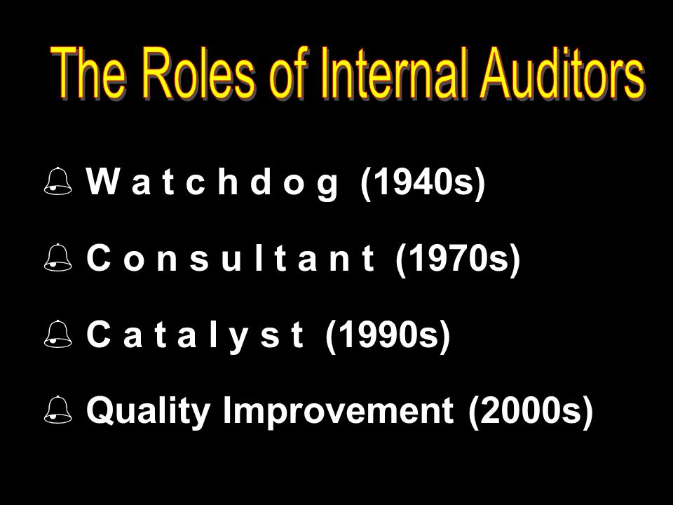 The Roles of Internal Auditors