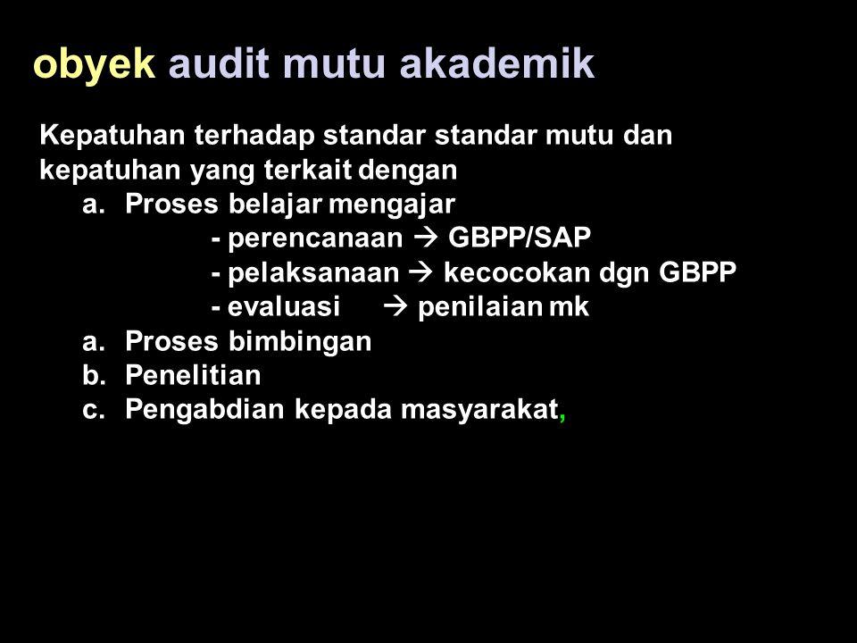 obyek audit mutu akademik