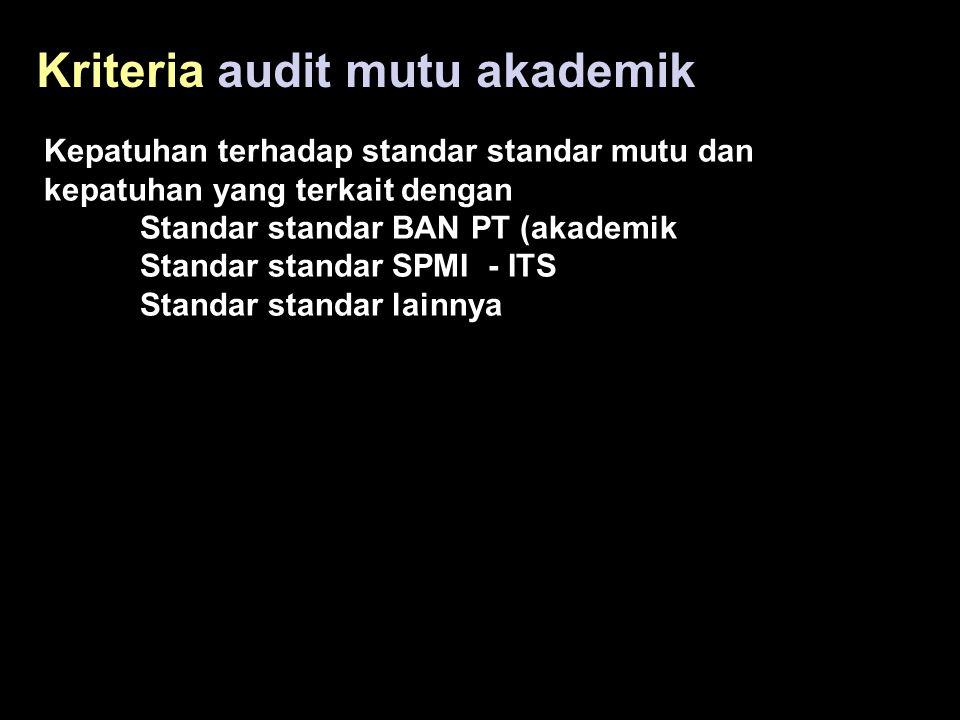 Kriteria audit mutu akademik