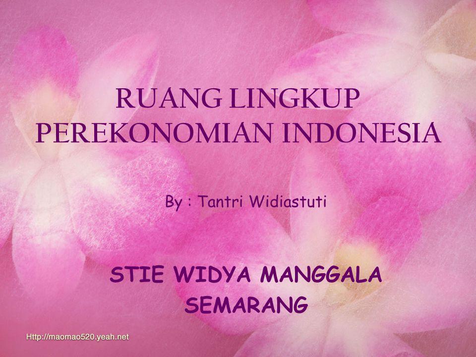 RUANG LINGKUP PEREKONOMIAN INDONESIA