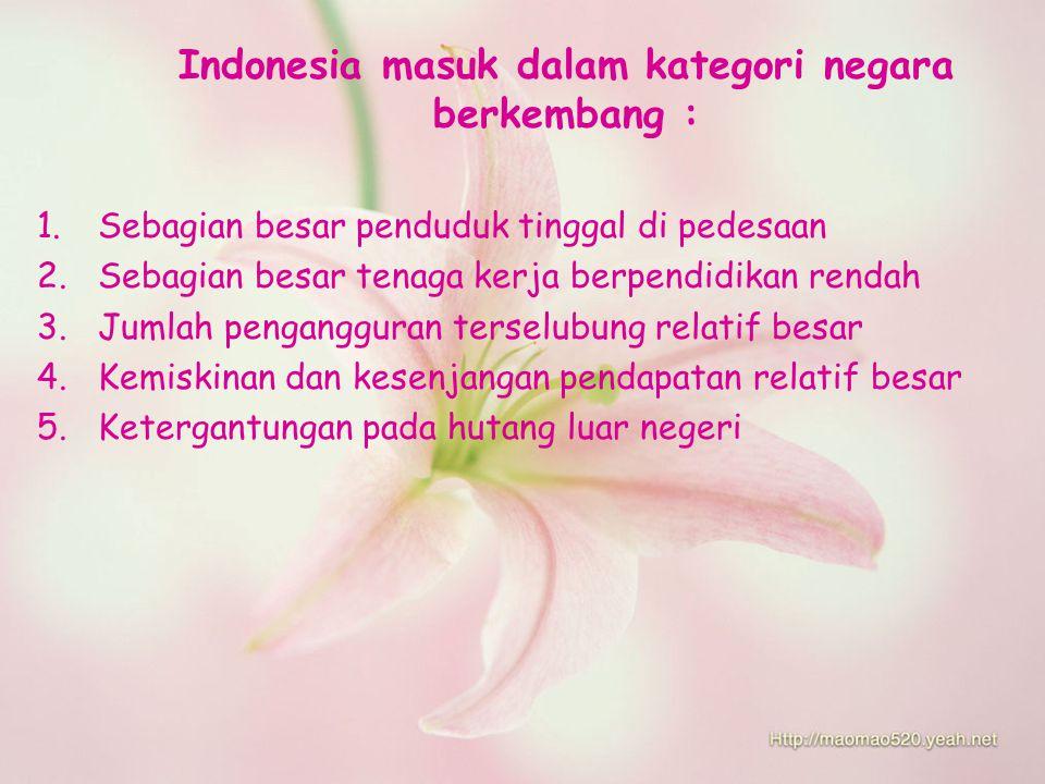 Indonesia masuk dalam kategori negara berkembang :