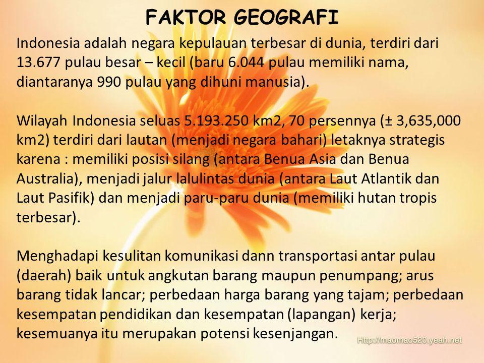 FAKTOR GEOGRAFI
