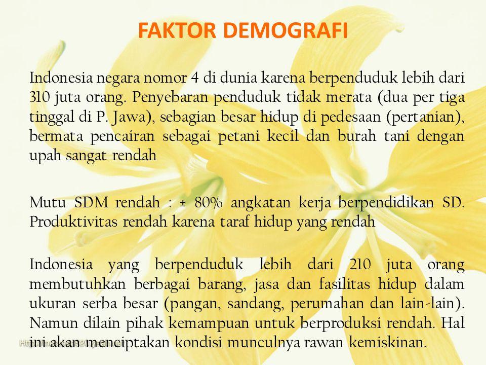 FAKTOR DEMOGRAFI