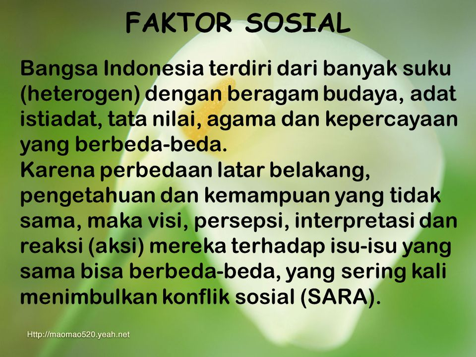 FAKTOR SOSIAL