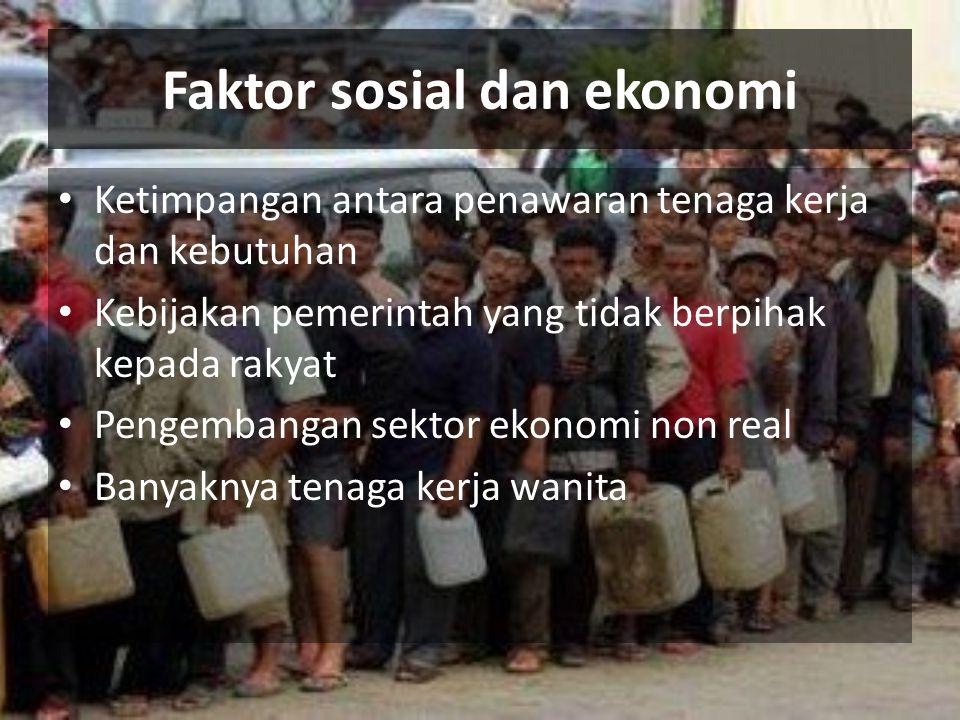 Faktor sosial dan ekonomi