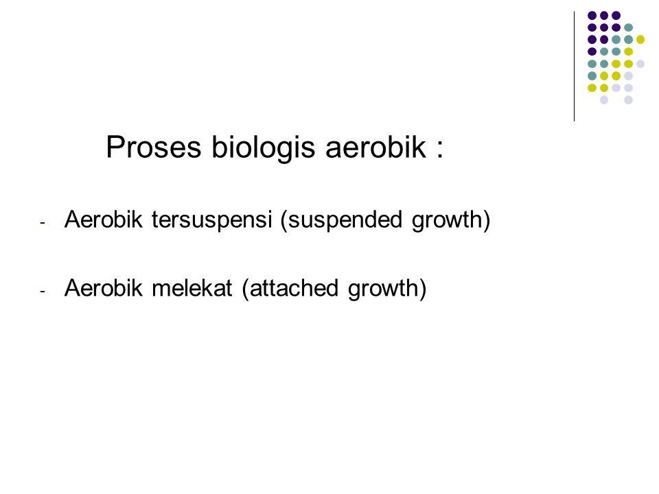 Proses biologis aerobik :