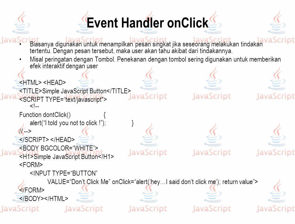 Event Handler onClick