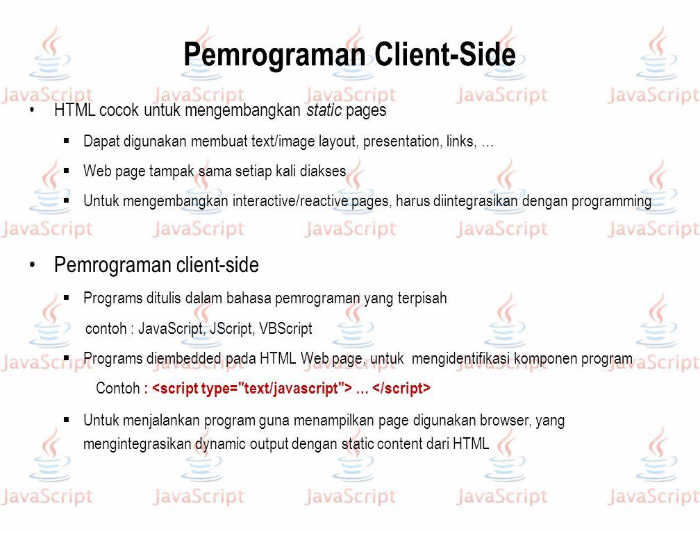 Pemrograman Client-Side