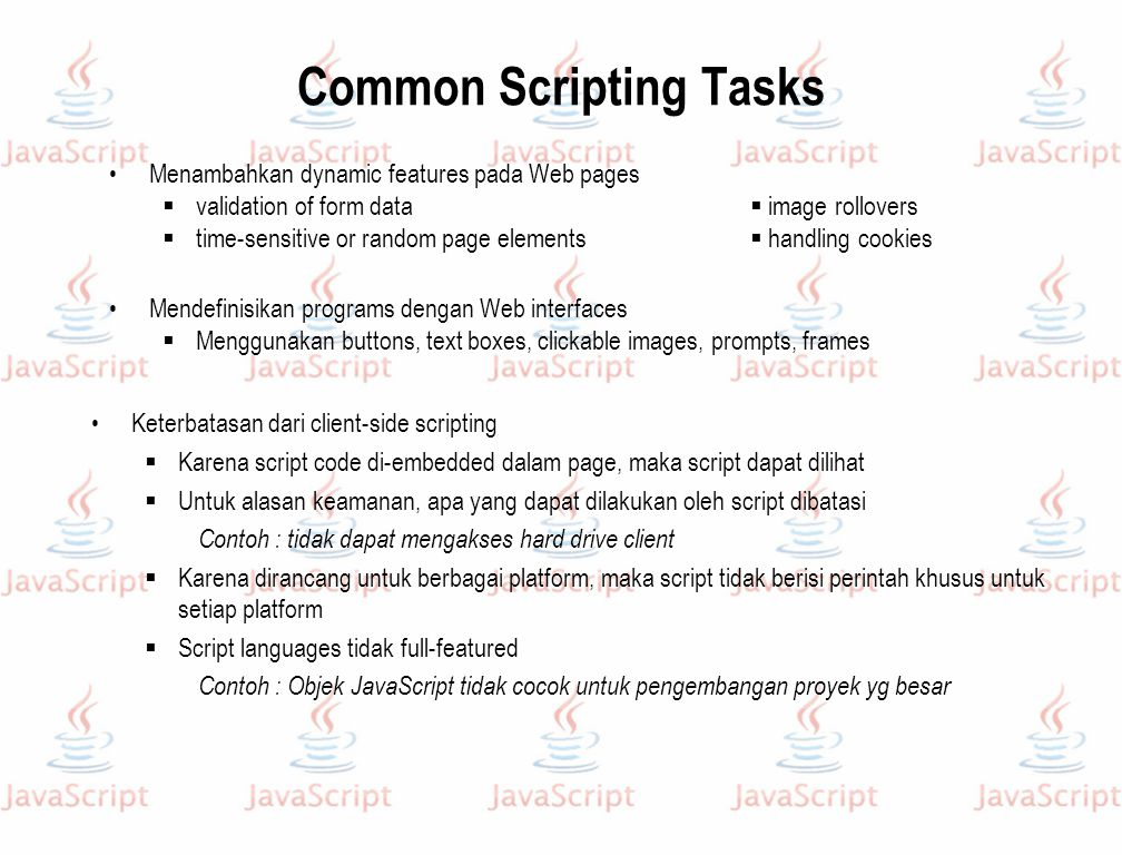 Common Scripting Tasks