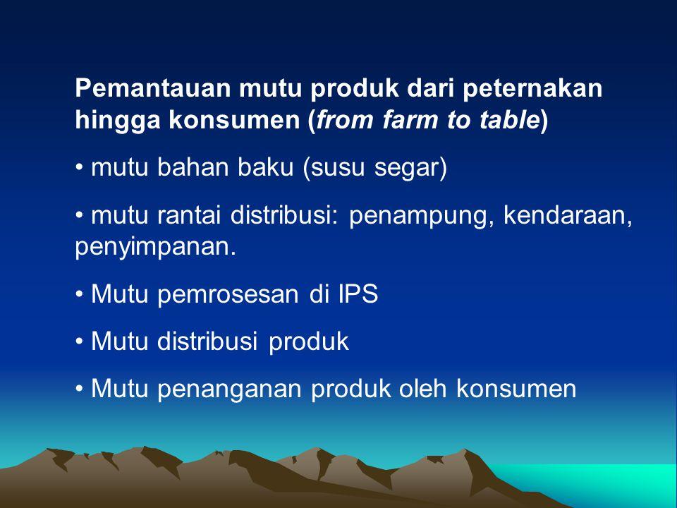 Pemantauan mutu produk dari peternakan hingga konsumen (from farm to table)