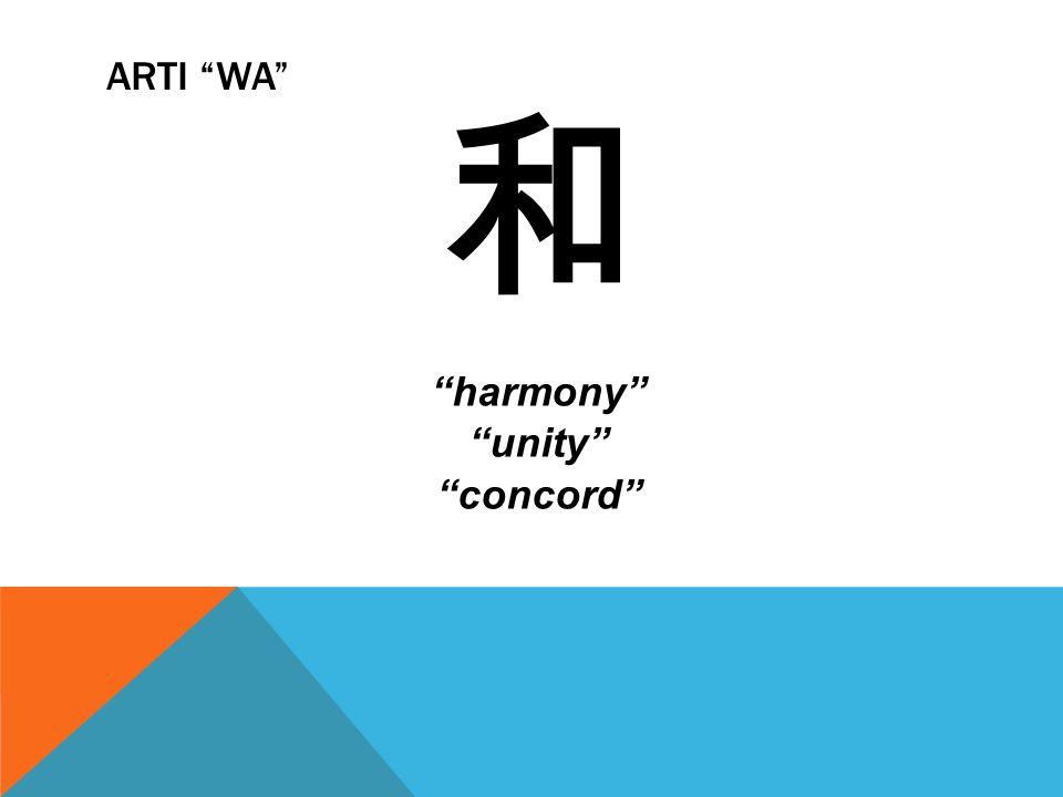 Arti Wa 和 harmony unity concord