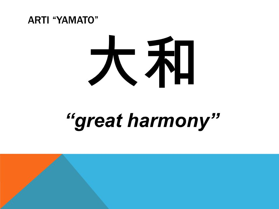 Arti Yamato 大和 great harmony