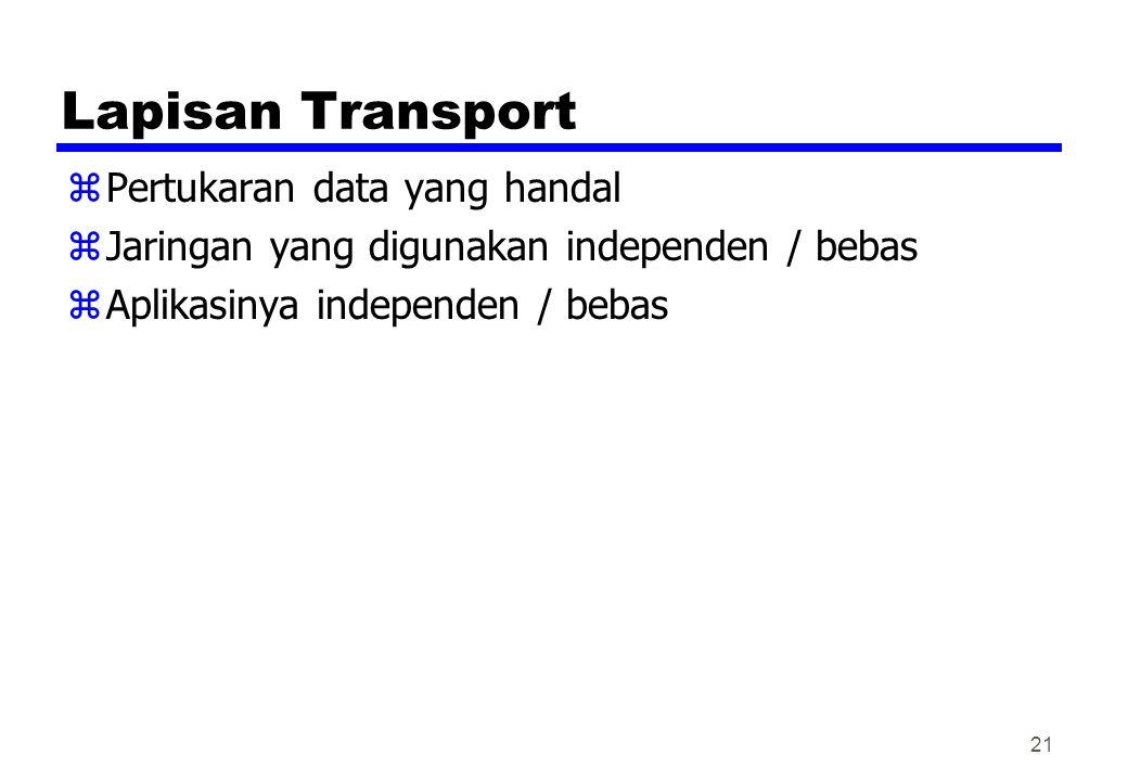 Lapisan Transport Pertukaran data yang handal